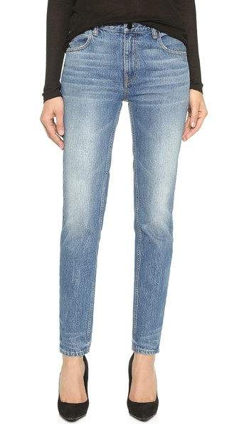 Denim x Alexander Wang 002 Relaxed Fit Skinny Jeans Light Indigo Aged