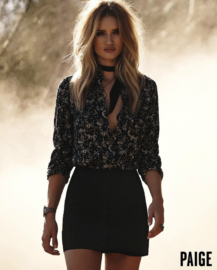Paige-Rosie-Huntington-Whiteley-Spring-2016-Campaign-The-Suede-Skirt