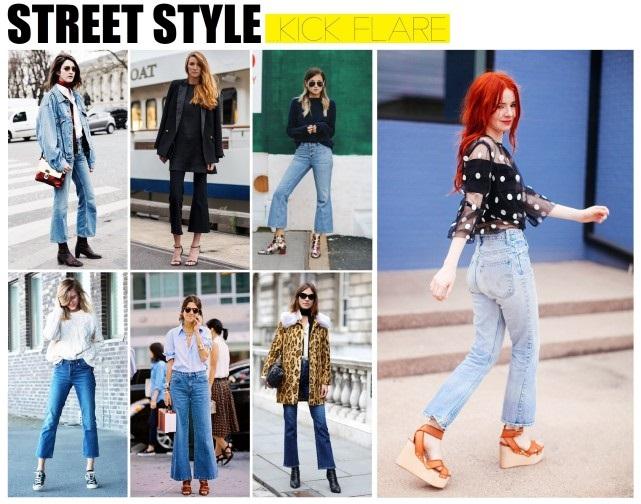 Street Style Kick Flare