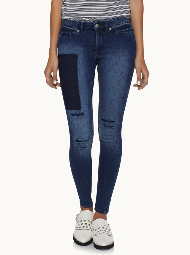 cheap-monday-patchwork-spray-on-jeans