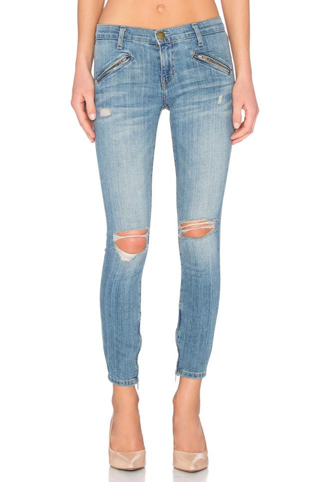 current elliott silverlake zip jeans