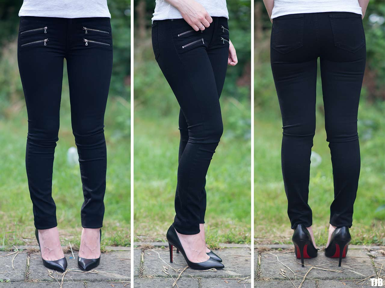 PAIGE High Rise Edgemont Jeans in Black Shadow Review 10