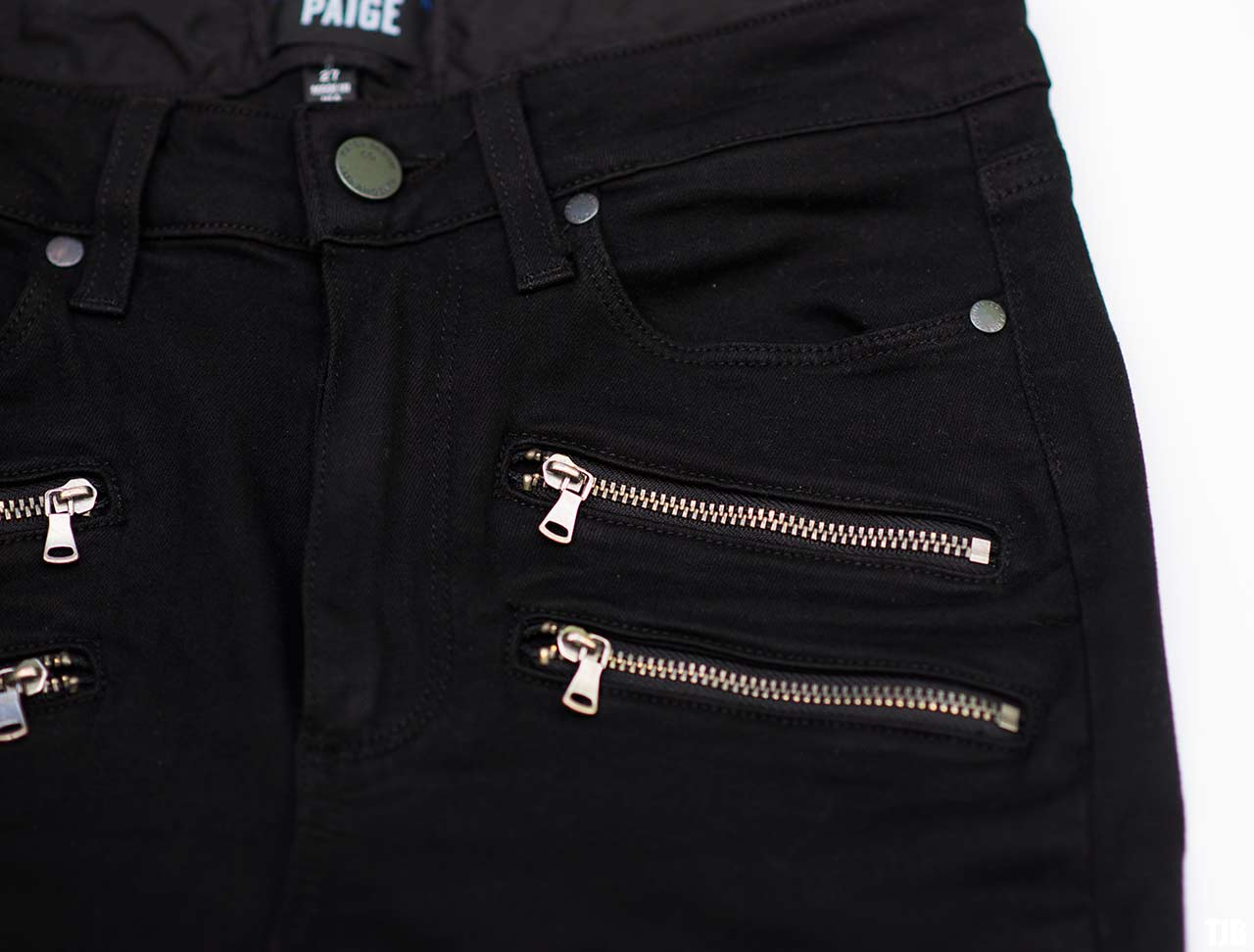PAIGE High Rise Edgemont Jeans in Black Shadow Review 2