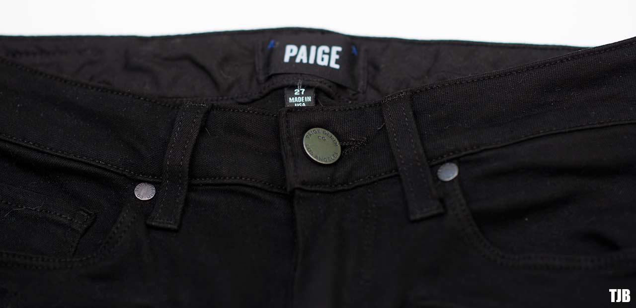 PAIGE High Rise Edgemont Jeans in Black Shadow Review 3