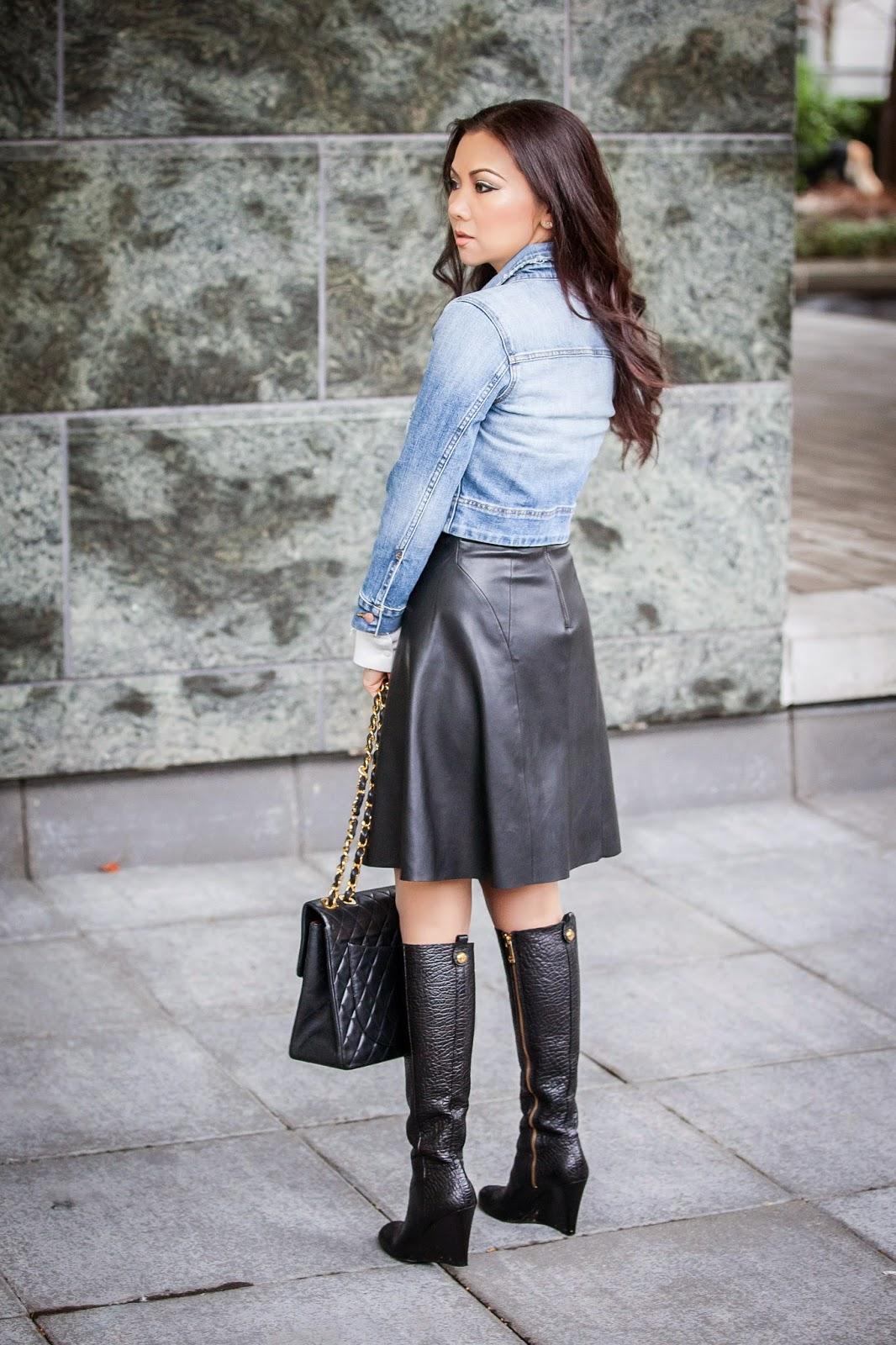 denim-jacket-leather-skirt