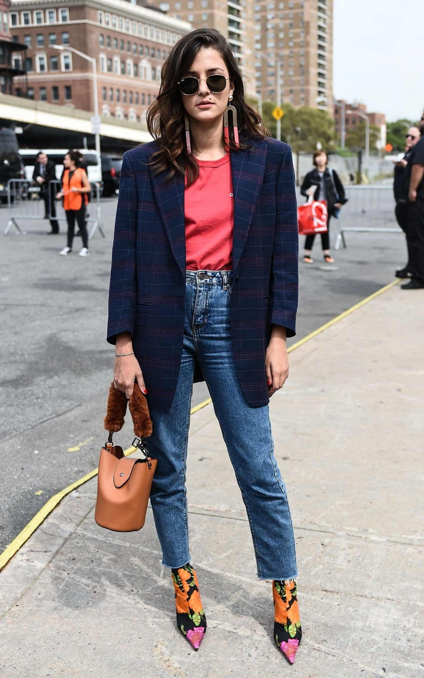 Denim Street Style From New York Fashion Week SS18 | The ...