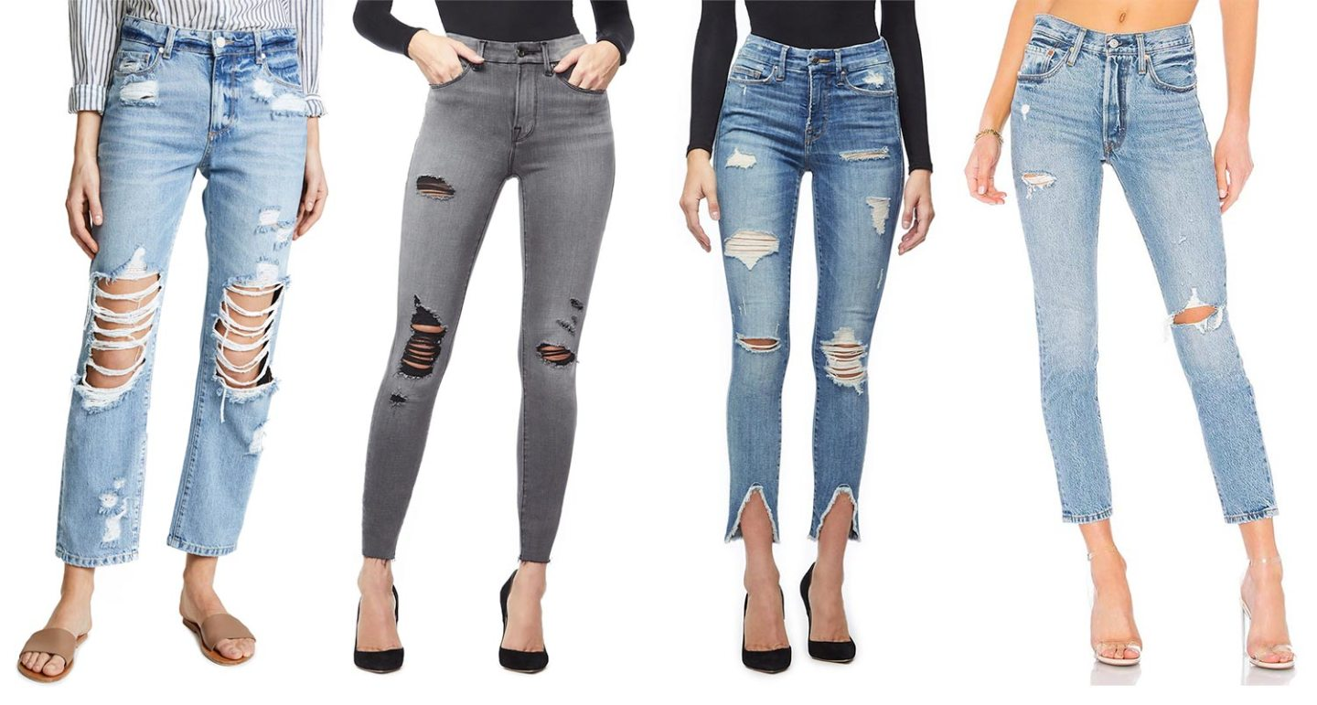 How Do You Prefer Your Jeans Distressed?