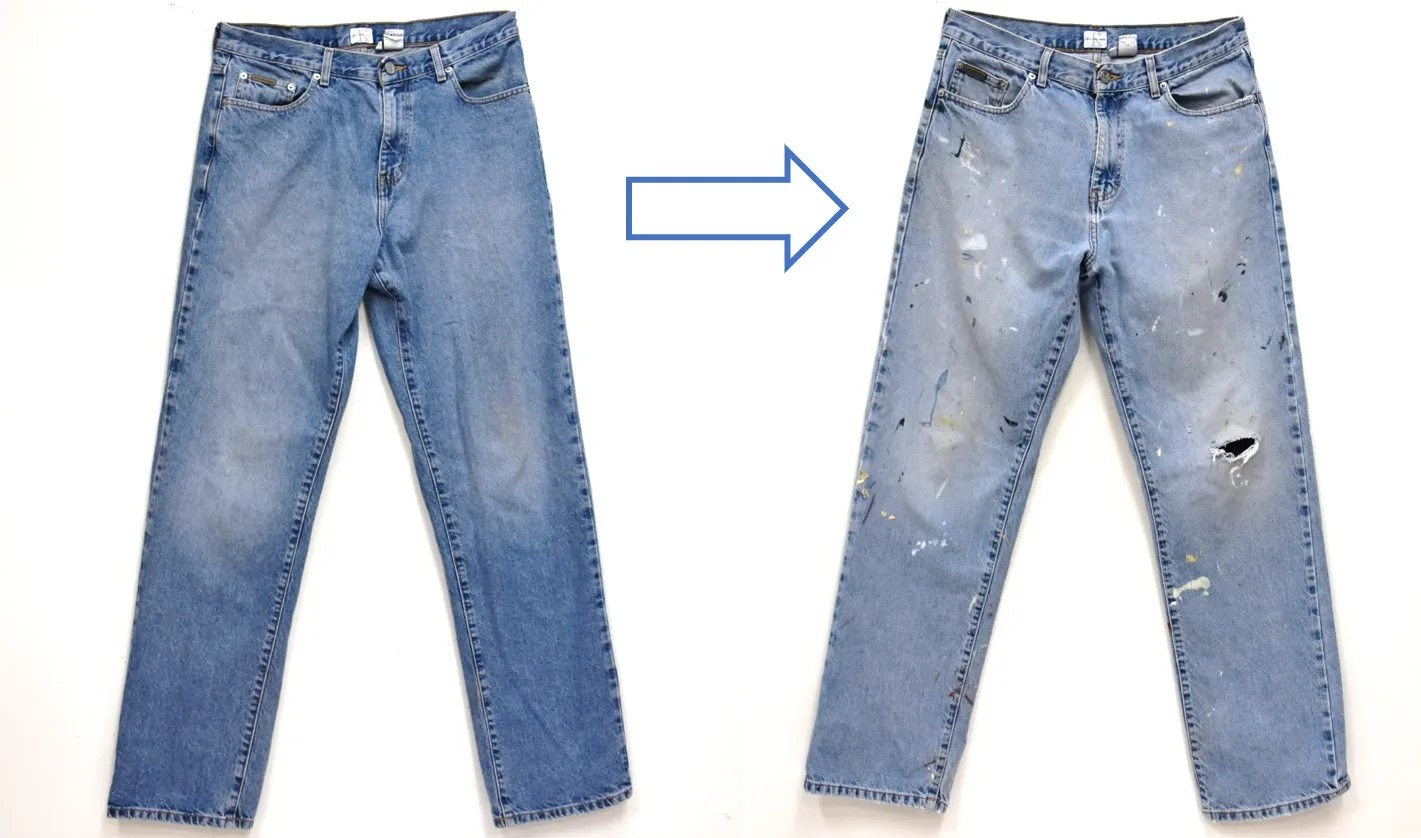 How To DIY Distress Your Jeans