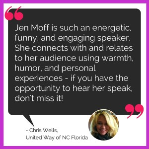 Jen Moff speaking testimonial from Chris Wells of United Way