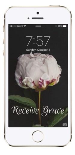 Receive Grace iPhone Wallpaper
