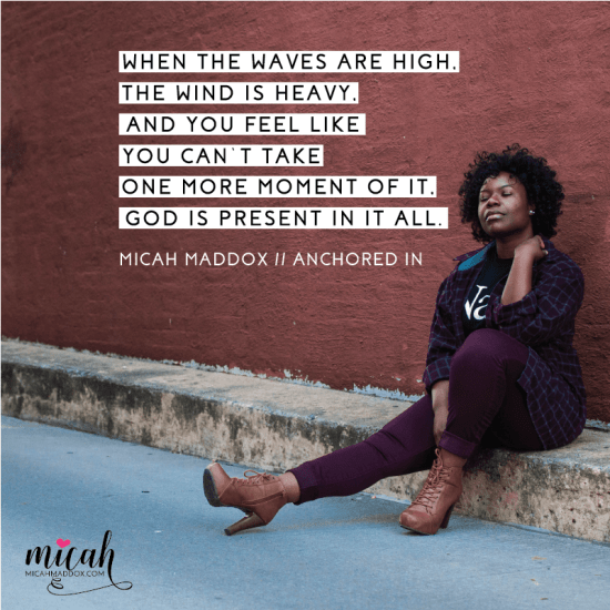 Don't waste your darkness. Anchored In By Micah Maddox