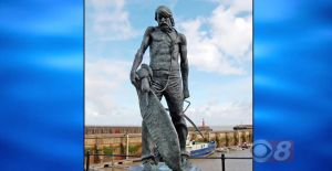 Statue of a sailor, used in Final Jeopardy on September 25, 2017