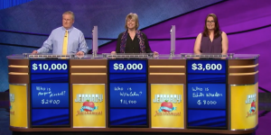 Final scores for the September 7, 2017 episode of Jeopardy!