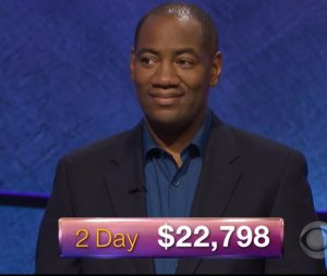 Gilbert Collins, today's Jeopardy! winner (for the January 11, 2018 episode.)