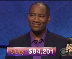 Gilbert Collins, today's Jeopardy! winner (for the January 16, 2018 episode.)