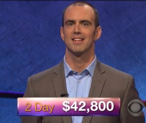 Lee Quinn, today's Jeopardy! winner (for the January 18, 2018 episode.)