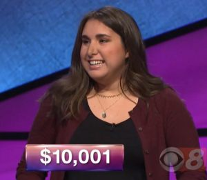 Lindsay Resnick, today's Jeopardy! winner (for the January 9, 2018 episode).