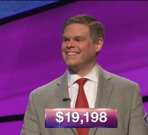 Lane Flynn, today's Jeopardy! winner (for the March 7, 2018 episode.)