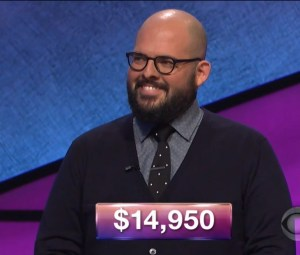 Matt Lisiecki, today's Jeopardy! winner (for the March 2, 2018 episode.)
