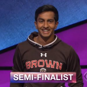Dhruv Gaur, today's Jeopardy! winner (for the April 10, 2018 game).