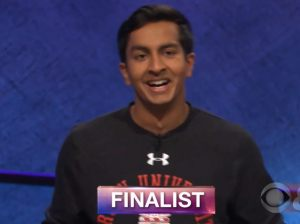 Dhruv Gaur, today's Jeopardy winner (for the April 18, 2018 game.)