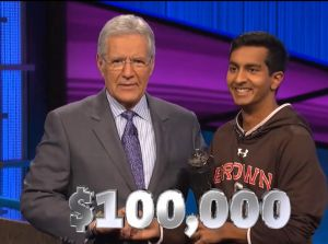 Dhruv Gaur, today's Jeopardy! winner (for the April 20, 2018 game.)