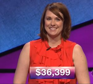 Kristin Robbins, today's Jeopardy! winner (for the April 5, 2018 episode.)