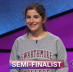 Rebecca Rosenthal, today's Jeopardy! winner (for the April 12, 2018 game.)
