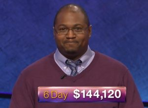 Josh Hill, today's Jeopardy! winner (for the May 23, 2018 episode.)