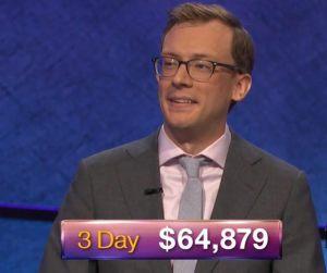 Alex Schmidt, today's Jeopardy! winner (for the October 10, 2018 episode.)