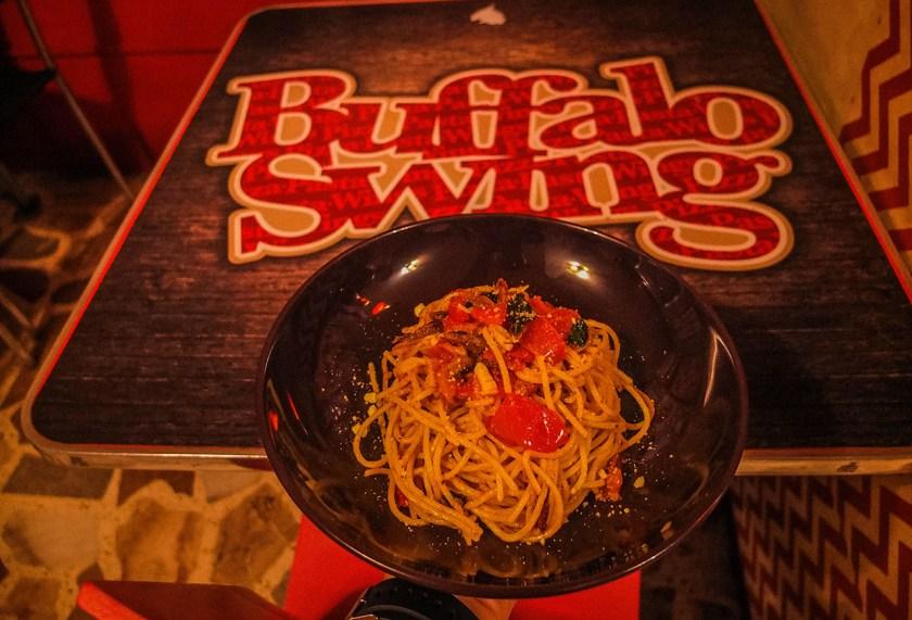 Buffalo Swing - Gourmet Tuyo Spaghetti - http://thejerny.com