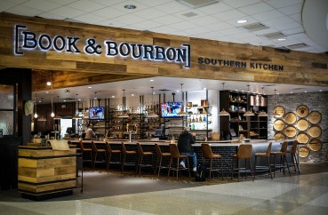 Book and Bourbon at the Louisville International Airport.