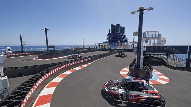 Go-Kart Race Track aboard Norwegian Joy, Norwegian Cruise Line