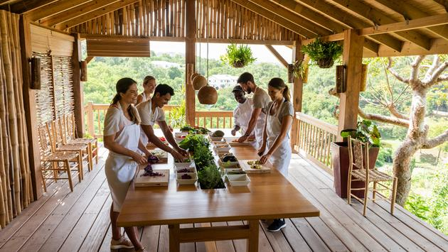 cooking class at BodyHoliday in St. Lucia