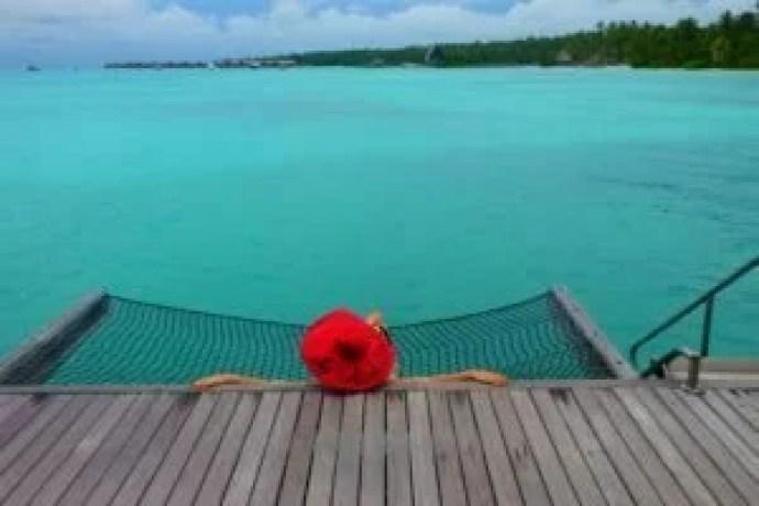 water villa hammock Maldives island