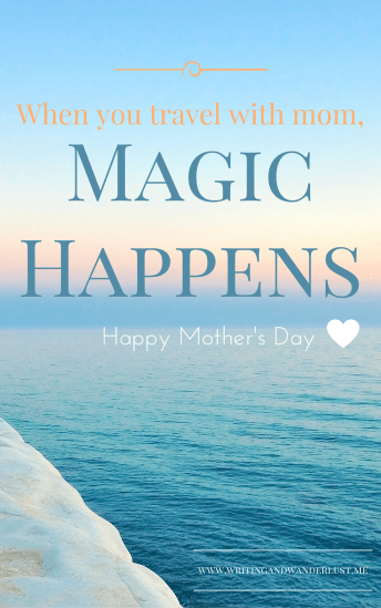 When you travel with mom,Magic Happens