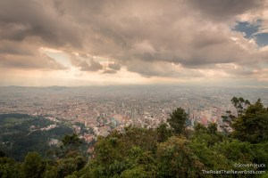 View of Bogotá from Monserrate
