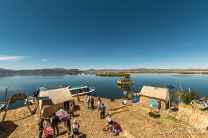 Isla Purimita Floating Island on Lago Titicaca