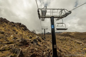 Ski Lift up Ruapehu Volcano