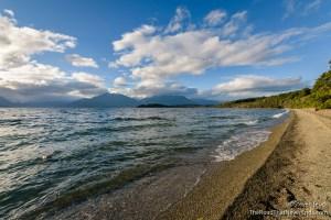 View of Lake Te Anau from Henry Creek Campsite