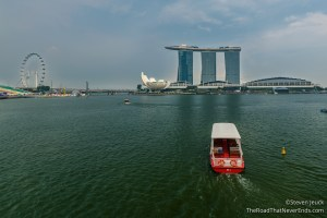 Harbor and Marina Bay Sands Hotel