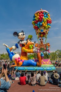 "Mickey and friends in ""Happiness is Here"" Parade"