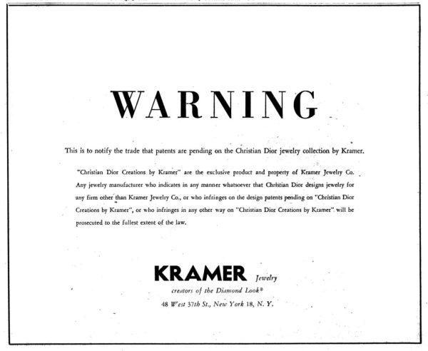 Kramer Jewelry Copyright Infringement Notice