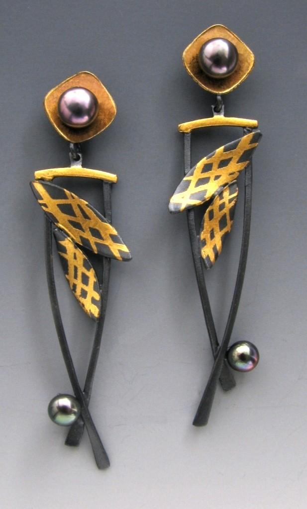 Boucles d'oreilles Daylilies par Judith Neugebauer