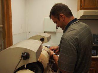 Dan at the polisher