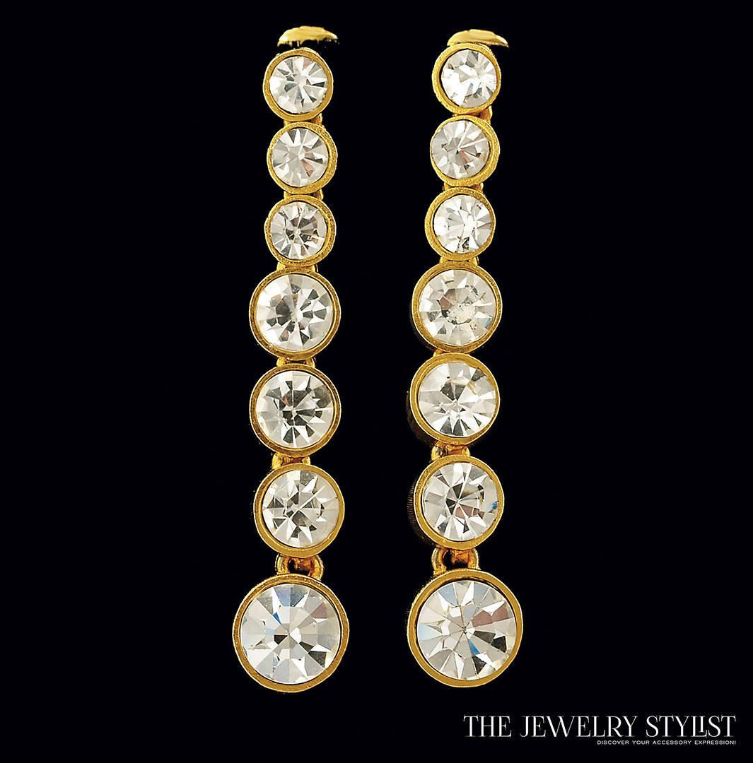 Tapered Vintage Crystal Drop Earrings
