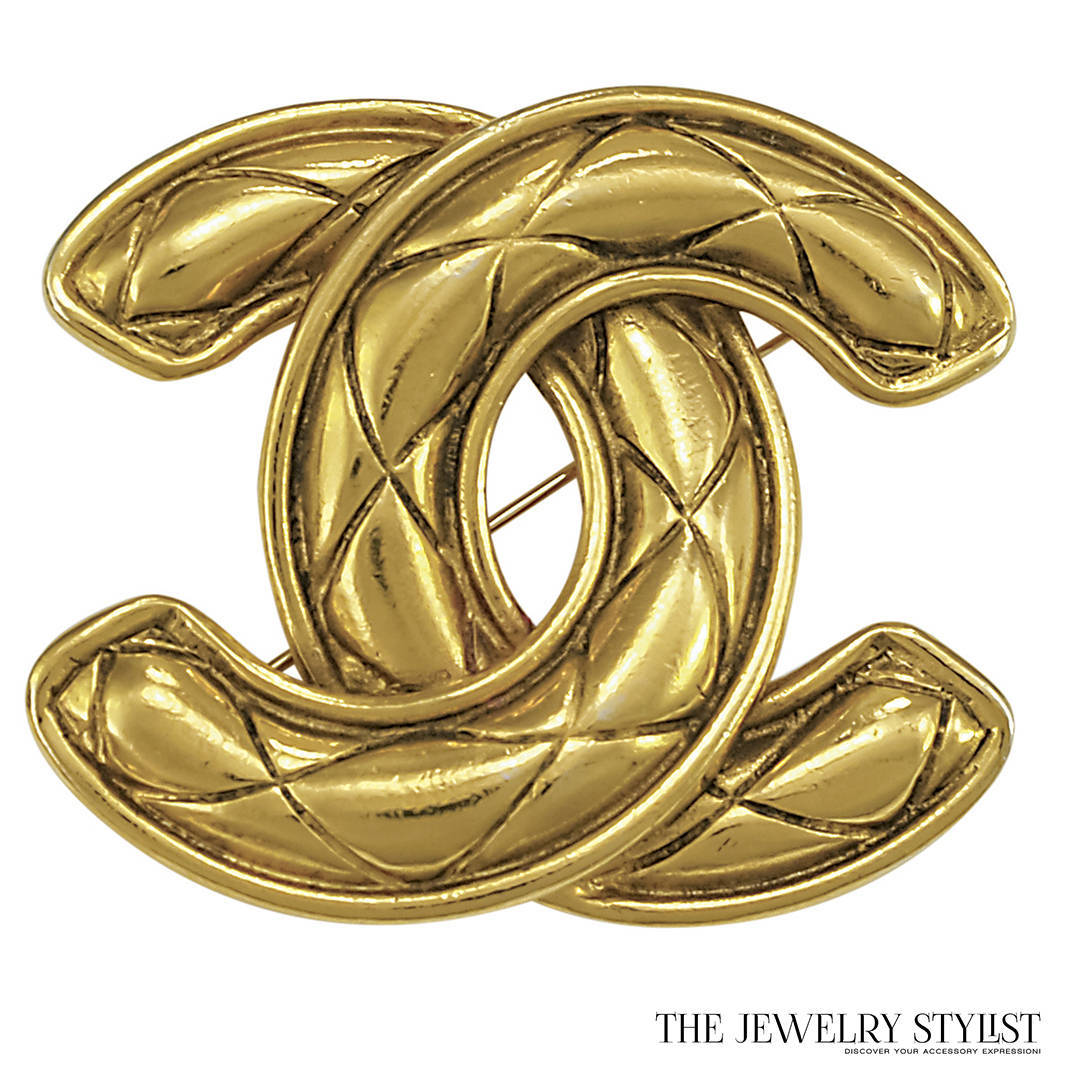 "Vintage Chanel Double ""C"" Brooch"