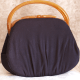 !940s Lewis Bakelite Wool Handbag Purse