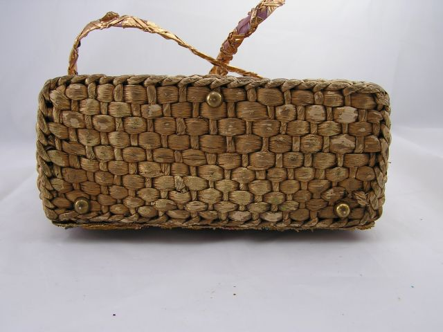 1960s Midas of Miami Floral Purse Bottom View