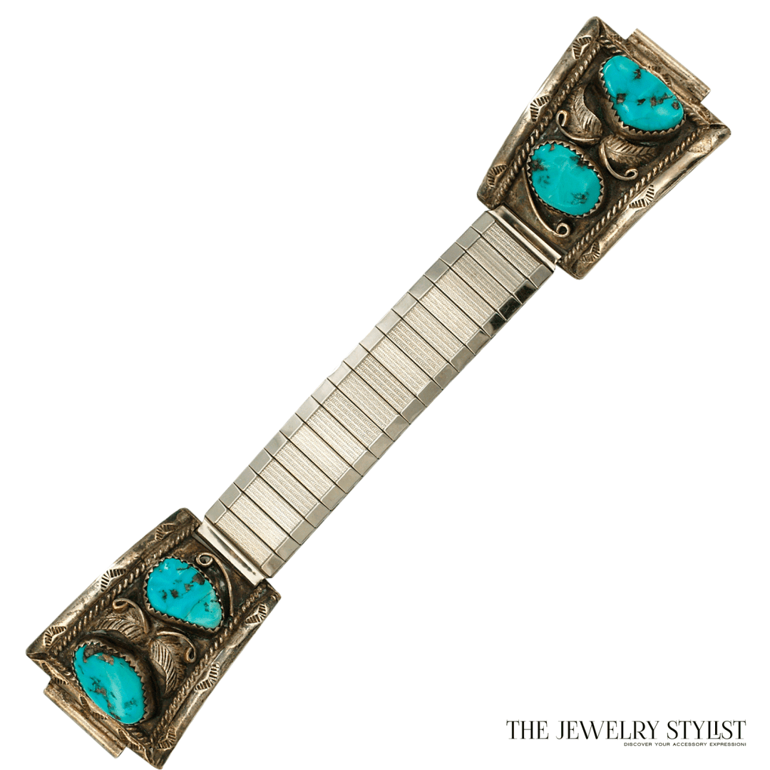 Native American Watch Band Marked T. G. S. F.